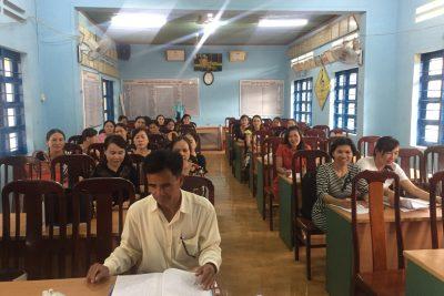 """Chi bộ trường Quang Trung sinh hoạt chuyên đề """"Tôn trọng nhân dân, chăm lo đời sống nhân dân"""""""